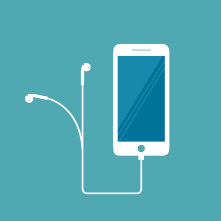 Smartphone phone icon on white background
