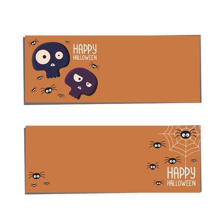 Banners  Halloween. Halloween banners. Holiday vector design. Design banner