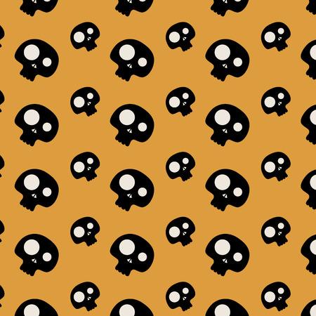 Skull Pattern. Halloween Pattern Ornament. Halloween Pattern Pattern with skull. Halloween skulls pattern. Festive Pattern