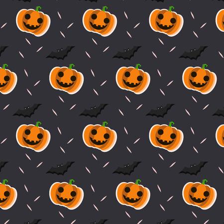 Pattern halloween ornament. Halloween design. Halloween pattern with pumpkins