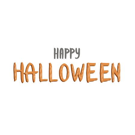 Happy Halloween Text Banner. Happy Halloween lettering. Иллюстрация
