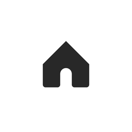 Home icon for web design. Home symbol. House icon in flat style. Black vector illustration for web design