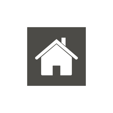 Home icon for web design. Home symbol. House icon in flat style. Black vector illustration for web
