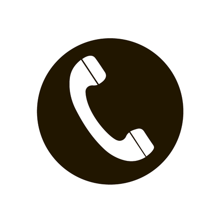 Telephone reciver vector icon, flat design best vector icon. Phone in circle. Phone icon in flat style on white background. Icon for web