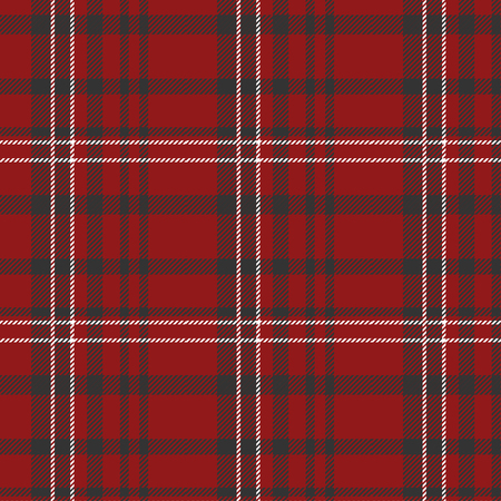 Scottish plaid. Red, Black and White Tartan Plaid Scottish Pattern. Tartan pattern. Scottish cage. Scottish plaid in red colors Иллюстрация