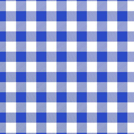Tartan pattern. Blue Scottish cage. Scottish checkered background. Traditional Scottish ornament. Scottish plaid in blue colors. Fabric texture