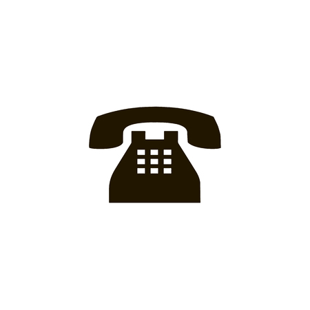 Telephone reciver vector icon, flat design best vector icon. Black Phone icon in flat style on white background. Icon for web
