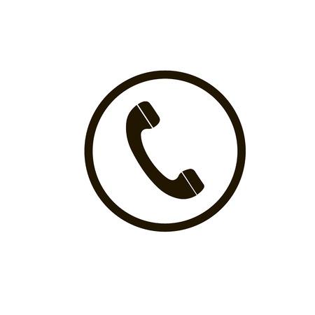 Telephone reciver vector icon, flat design best vector icon. Phone icon in flat style on white background