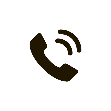 Telephone reciver vector icon, flat design best vector icon. Phone icon in flat style on white background. Phone sign