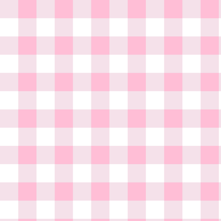 Pink gingham pattern. Textured squares for plaid, tablecloths, clothes, shirts, dresses, paper, bedding, blankets, quilts and other textile products. Vector illustration