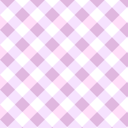 Pink rhombus Gingham pattern. Squares Texture for clothes Vector illustration