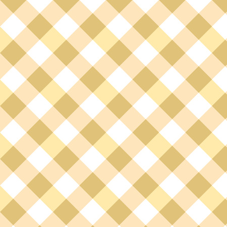 Yellow Gingham pattern. Squares Texture for clothes Vector illustration