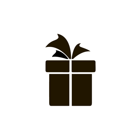 Icon gift, birthday gift box, birthday gift