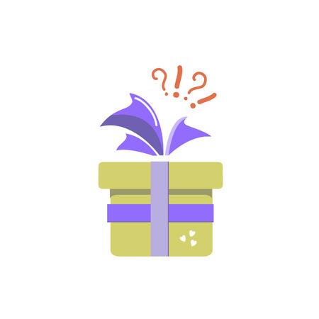 Gift icon, surprise, yellow gift box