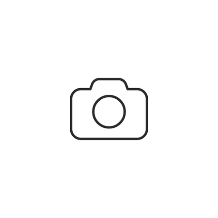 Camera Icon in trendy flat style isolated on gray background. line icon. Camera symbol for your web site design, logo, app, UI