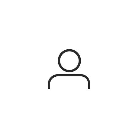 Man Icon vector. Line icon. Simple flat symbol. Perfect Black pictogram illustration on white background Иллюстрация
