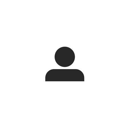 Man Icon vector. Simple flat symbol. Perfect Black pictogram illustration on white background