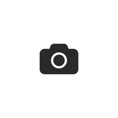 Camera Icon in trendy flat style isolated on gray background. Camera symbol for your web site design, logo, app, UI Иллюстрация
