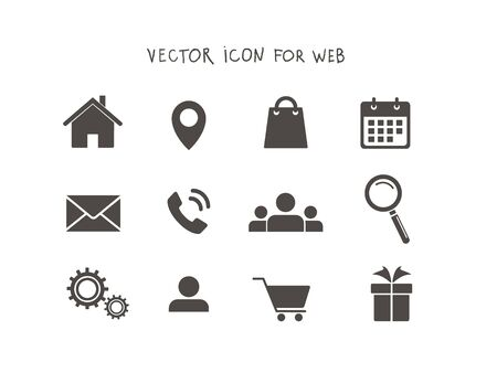 A set of vector icons for the web. Icons to navigate the site. Stock fotó