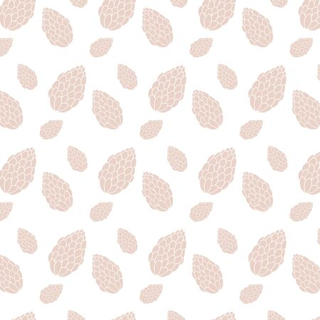 Vector pattern with fir cones. Simple minimalistic ornament.