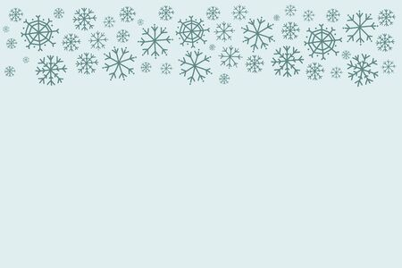Winter background with snowflakes. Holiday design. Vector illustration Çizim