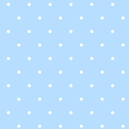 Pattern with white dots on a blue background. Vector idle ornament in shabby chic style. 向量圖像