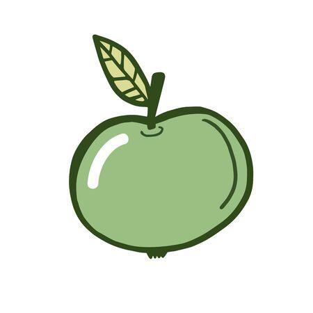 Apple. Vector color sketch of an apple. Simple illustration Ilustração