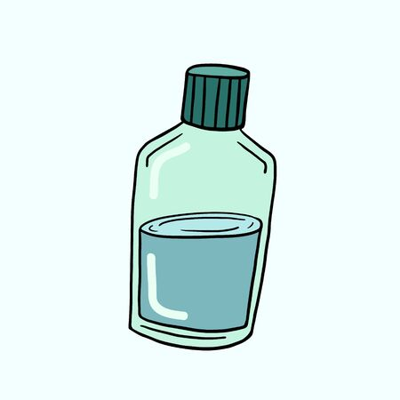 Bottle. Vector color sketch in cartoon style. Freehand illustration