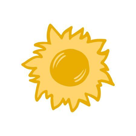 The sun. Vector color sketch of the sun. Symbol of the sun