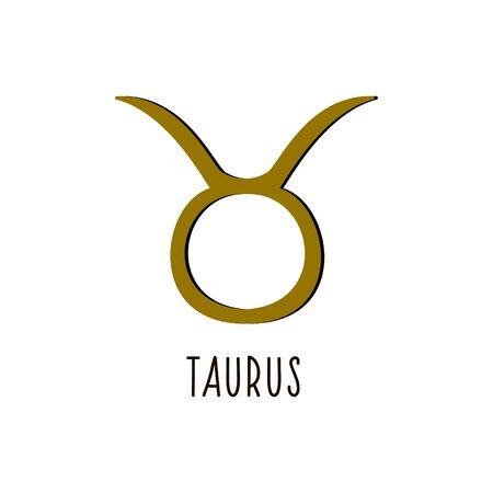 Taurus. Vector sign sign Taurus. Zodiac sign.