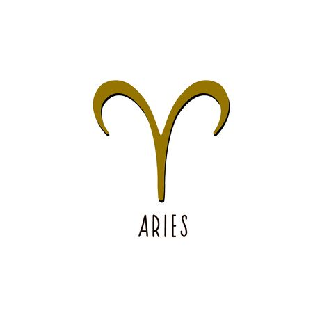 Aries. Vector sign Aries sign. Zodiac sign. Vectores