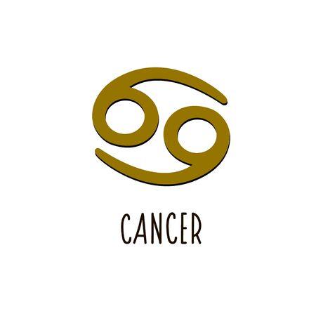 Cancer zodiac sign. Vector zodiac sign Cancer Vectores