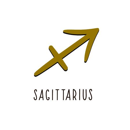 Sagittarius zodiac sign. Sagittarius vector zodiac sign Illustration
