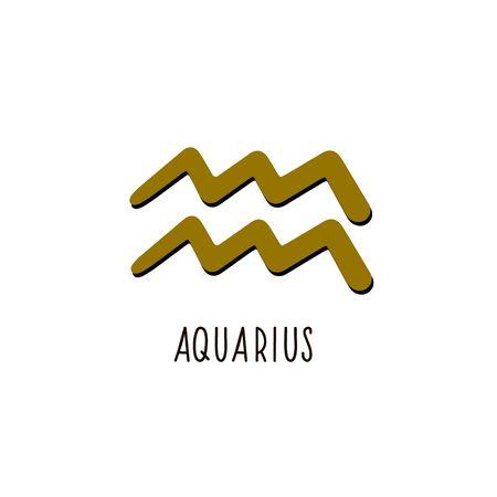 Zodiac sign Aquarius. Vector zodiac sign Aquarius