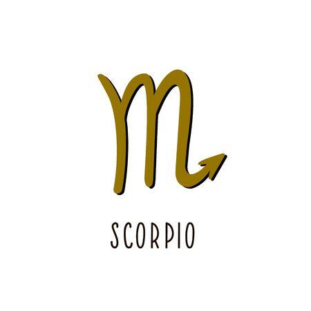 Zodiac sign scorpio. Vector zodiac sign scorpio