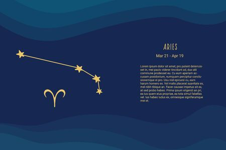 Horoscope background. Aries. Horoscope vector background. Aries constellations. Vectores