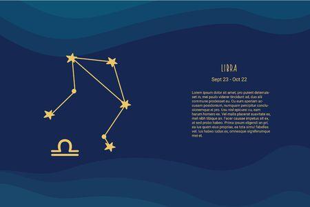 Horoscope background. Libra. Horoscope vector background. Libra constellations Vectores