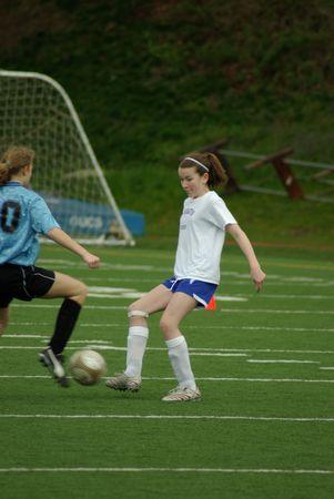 Soccer tackle Stok Fotoğraf
