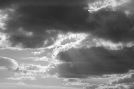 Heavenly sky with sun bursting thru Stock Photo - 1193056
