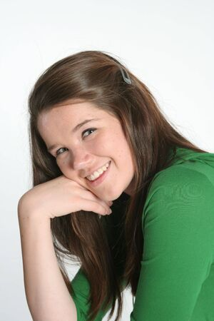 Smiling Teen Stok Fotoğraf