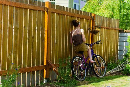 On my bike to nowhere Stok Fotoğraf