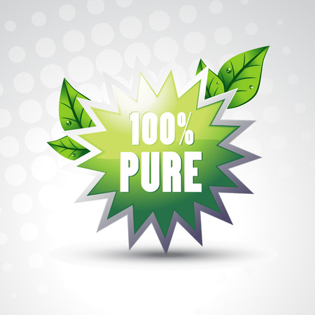 pure green symbol with leafs Vector