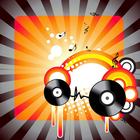 grooves: music design background illustration
