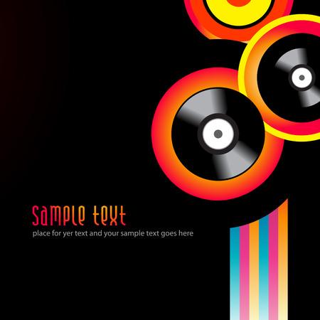 grooves: vector music background design illustration