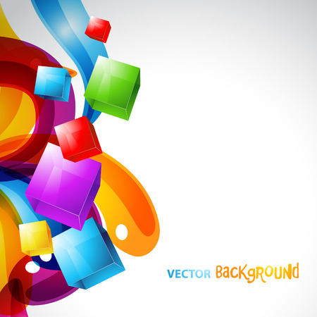 colorful cubes with stylish colorful background. Eps10 design artwork Stock Vector - 7743229
