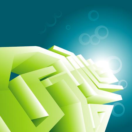 Green design wallpaper illustration Stock Vector - 7743216