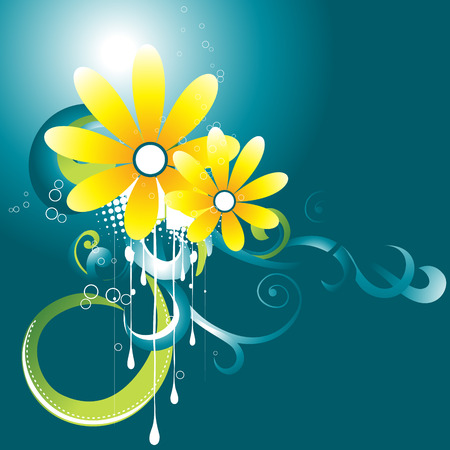 beautiful flower with floral around it Vector