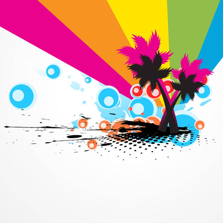 colorful tree abstract artwork illustration Stock Vector - 7782466