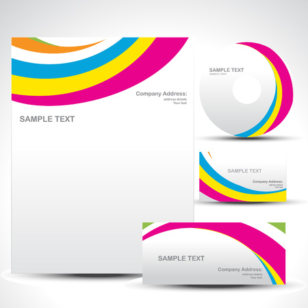letterhead:  style template art illustration