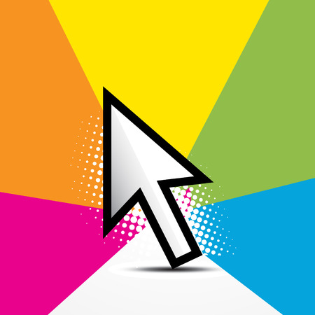 mouse pointer in colorful background Stock Vector - 7782376
